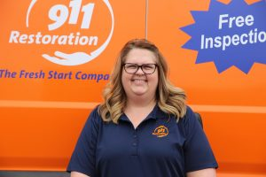 911-restoration-water-damage-mold-remediation-fire-damage-person-van-lady